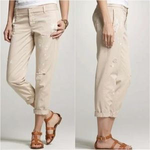 J.Crew Broken In Scout Chino Painted Crop Pants